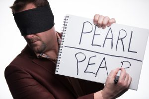 Curtis The Mentalist blindfolded writing.